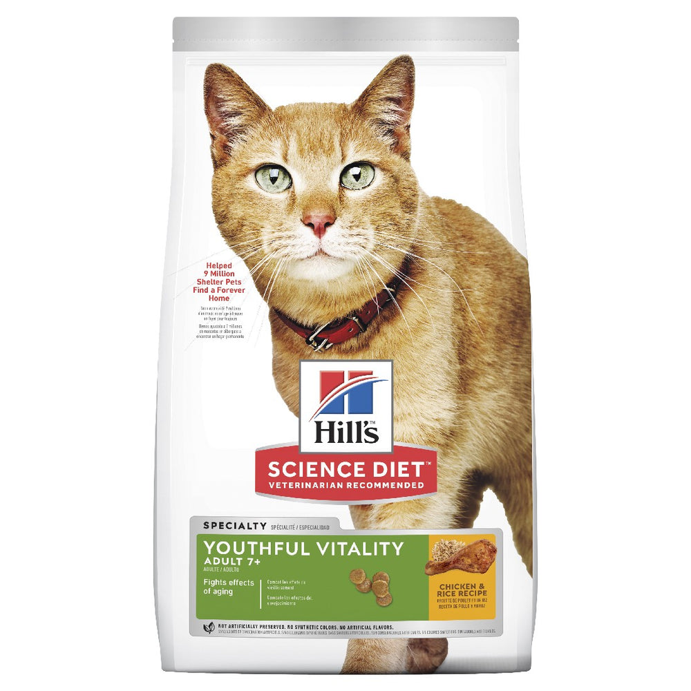 SCIENCE DIET FELINE YOUTHFUL VITALITY 7+ CHIC 1.36KG