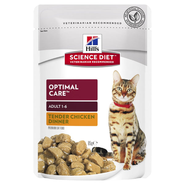 SCIENCE DIET CAT OPTIMAL CARE CHICKEN POUCH 85G