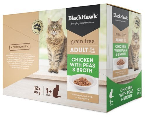 BLACK HAWK FELINE ADULT CHICKEN 12X85G