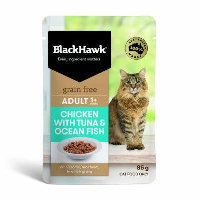 BLACK HAWK FELINE OCEAN FISH TUNA 85GX12