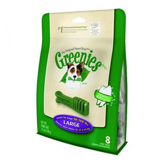 GREENIES LARGE 8 PACK 340G