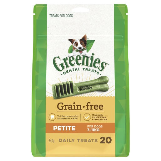Greenies Grain Free Treat Pack 340g Petite