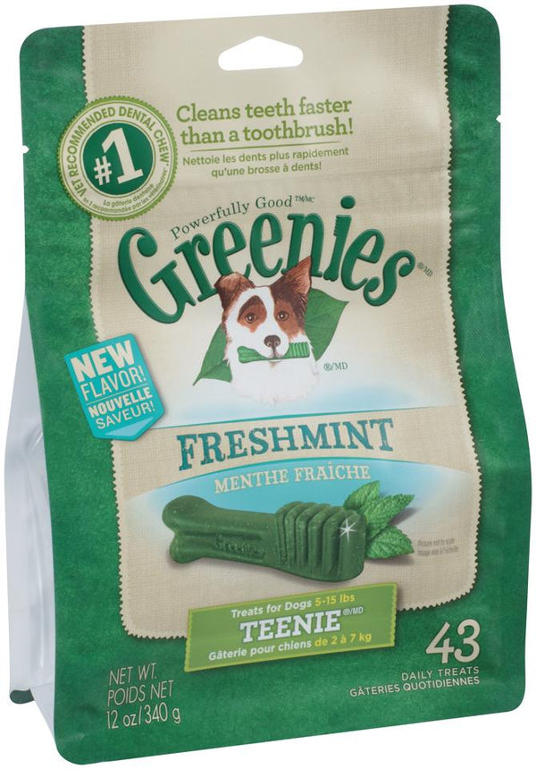 GREENIES FRESHMINT PACK 340G TEENIE