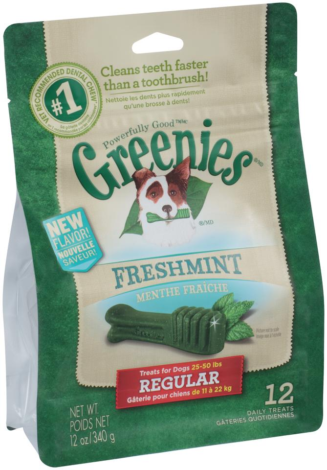 GREENIES FRESHMINT PACK 340G REGULAR