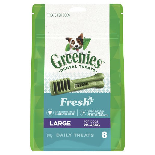 GREENIES FRESHMINT PACK 340G LARGE