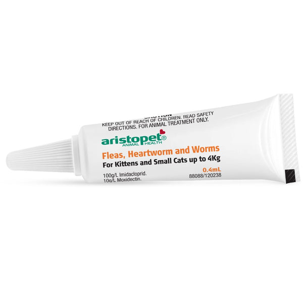 ARISTOPET SPOT TREATMENT KITTEN/CAT UP TO 4KG 6PK