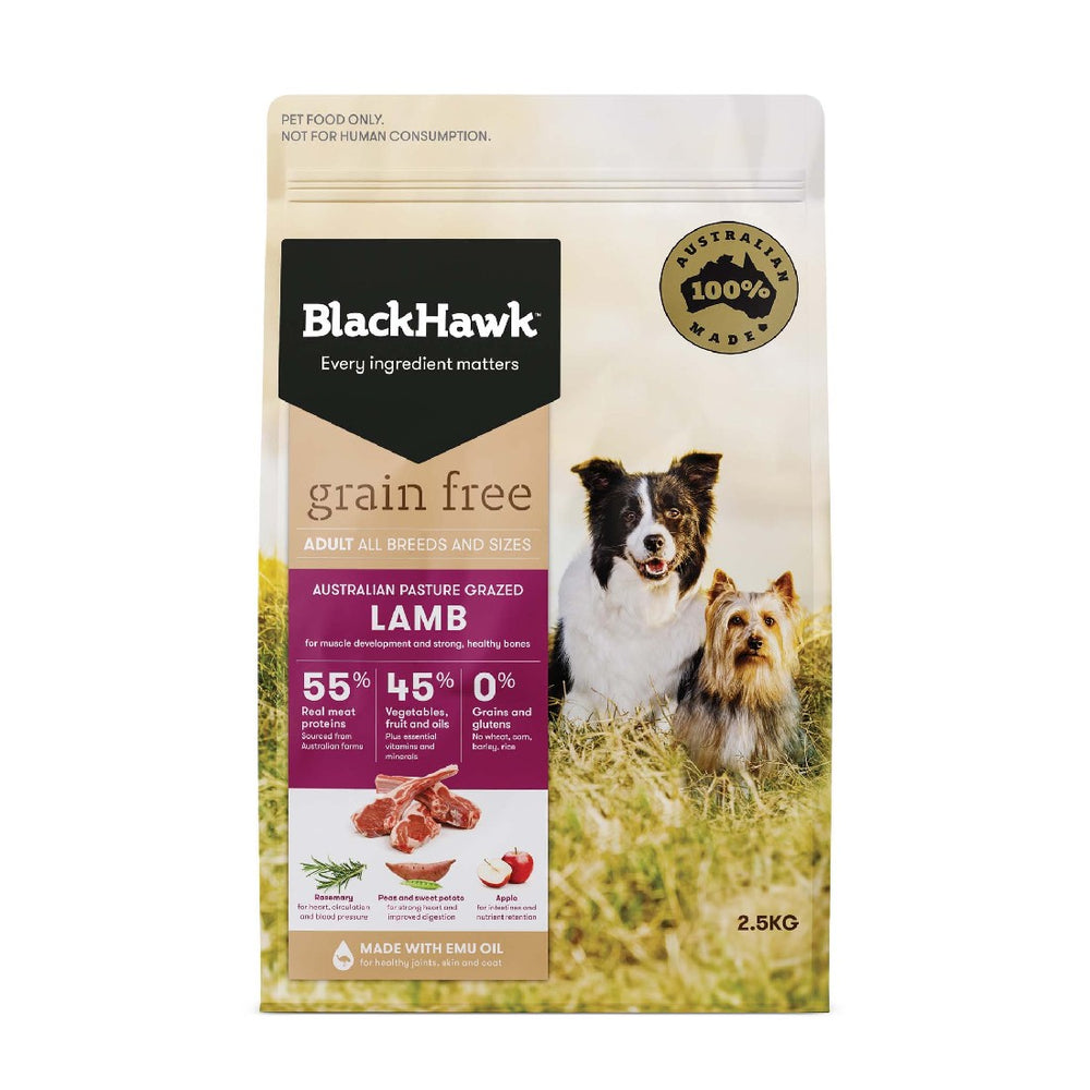 BLACK HAWK ADULT GRAIN FREE LAMB 2.5KG