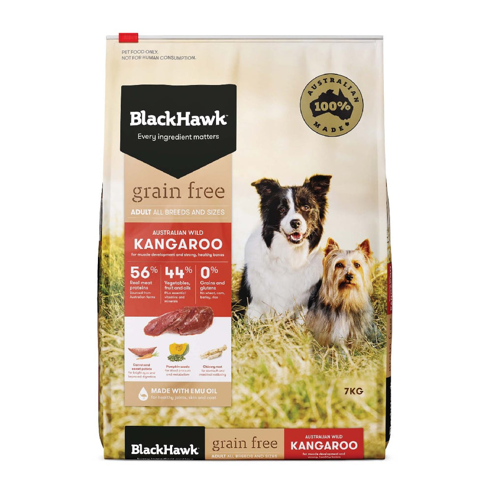 BLACK HAWK GRAIN FREE ROO 7KG ADULT