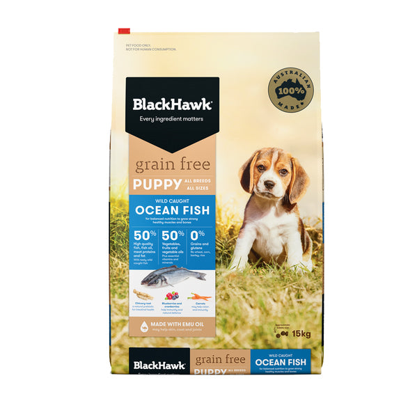 BLACK HAWK PUPPY GRAIN FREE OCEAN FISH 2.5KG