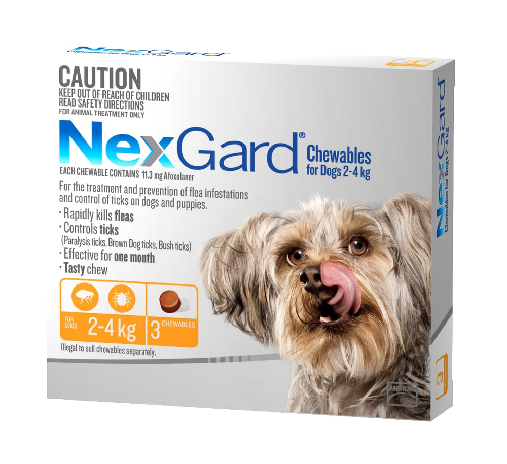 Nexgard Chewable 2-4kg 3 Pack