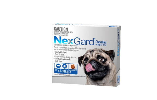 NEXGARD CHEWABLE 4.1-10KG 3 PACK