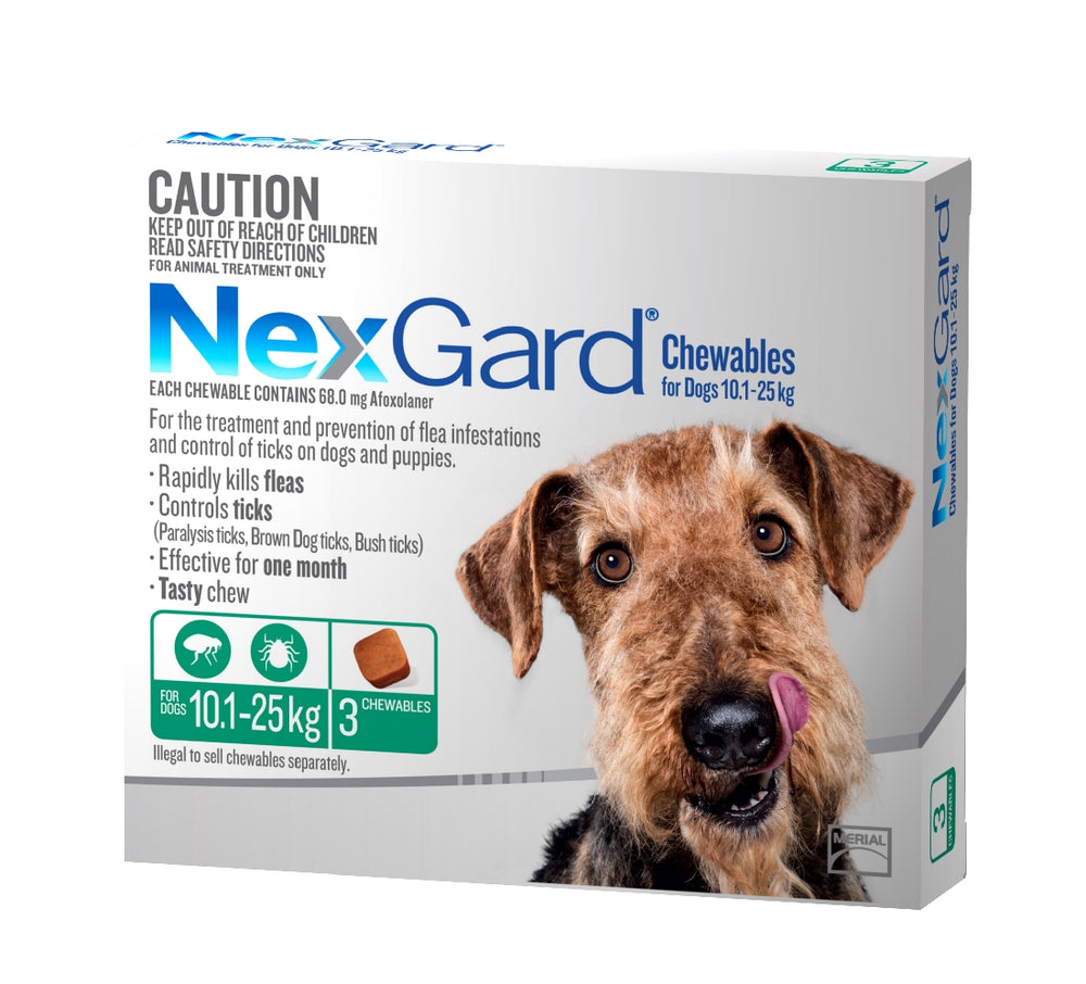Nexgard Chewable 10-25kg 3 Pack