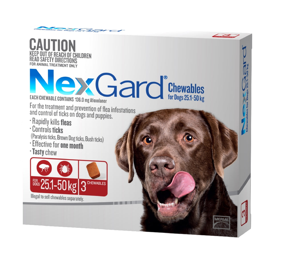 NEXGARD CHEWABLE 25-50KG 3 PACK