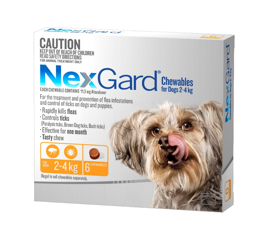 NEXGARD CHEWABLE 2-4KG 6 PACK