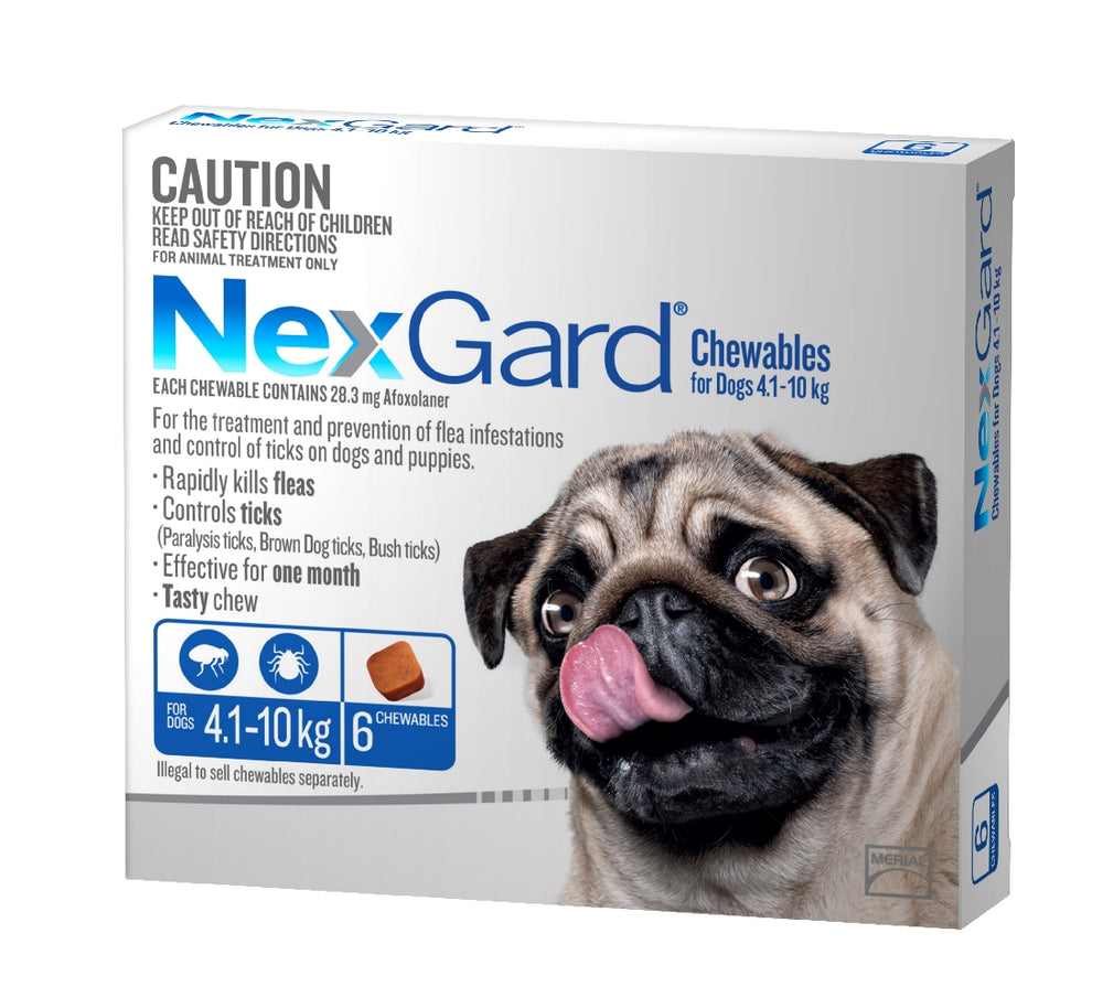 NEXGARD CHEWABLE 4.1-10KG 6 PACK