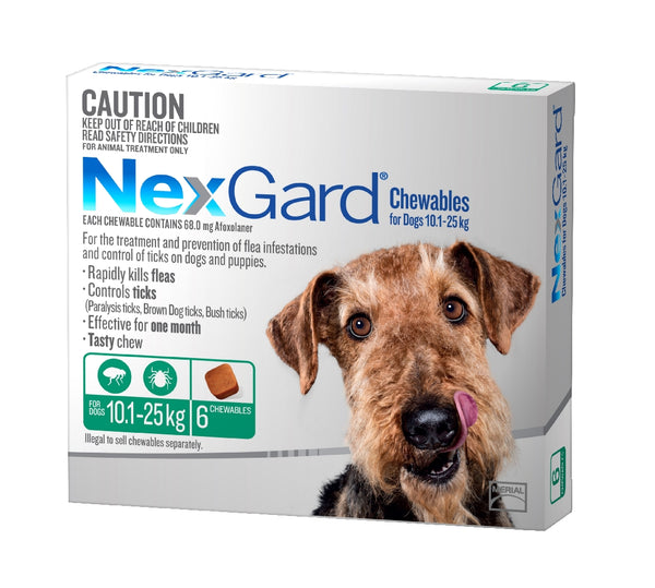 NEXGARD CHEWABLE 10-25KG 6 PACK