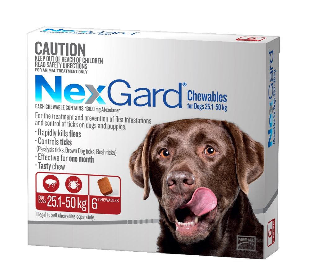 NEXGARD CHEWABLE 25-50KG 6 PACK