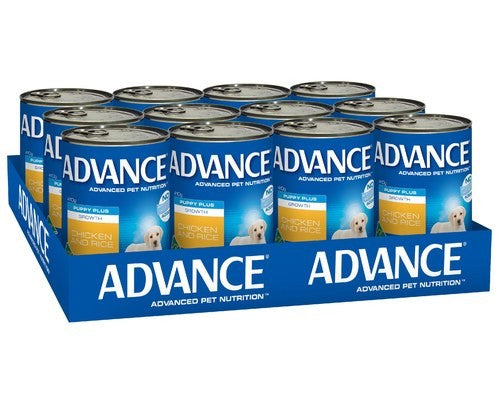 ADVANCE DOG CANS GROWTH CHICKEN 410GX12
