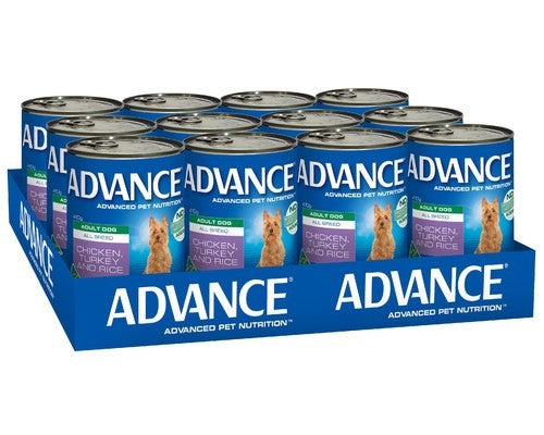 ADVANCE DOG CANS CHICKEN TURKEY 410G X 12