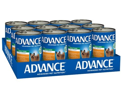 ADVANCE DOG CANS CASSEROLE CHIC 400GX12