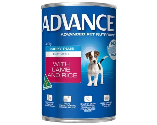 ADVANCE DOG CANS GROWTH LAMB 410G