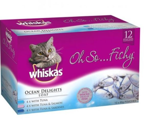 WHISKAS OH SO FISHY OCEAN DEL 12X85G