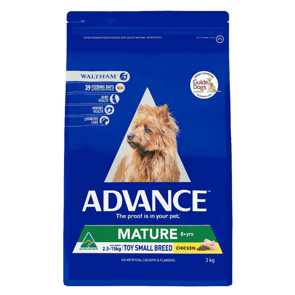 ADVANCE DOG MATURE TOY SML CHIC TURK 3KG