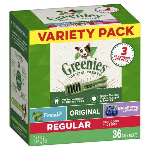 Greenies Dog Treats Regular Variety Pack 1kg