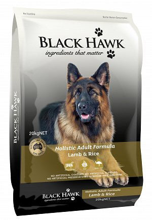 BLACK HAWK LAMB & RICE ADULT 20KG