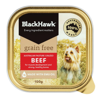 Black Hawk Grain Free Beef Tray Single 100g