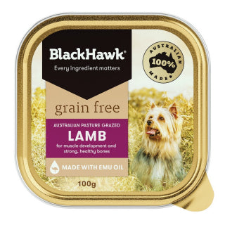 Black Hawk Grain Free Lamb Tray Single 100g