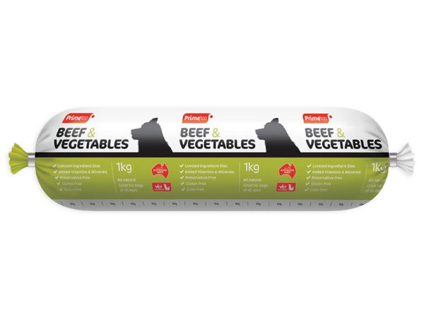 PRIME BEEF & VEGETABLES 3KG ROLL