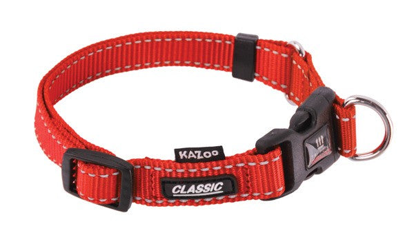 CLASSIC-ADJ. NYLON COLLAR-RED-25MM-XL