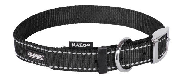 CLASSIC-NYLON COLLAR-BLACK-650X25MM-XL