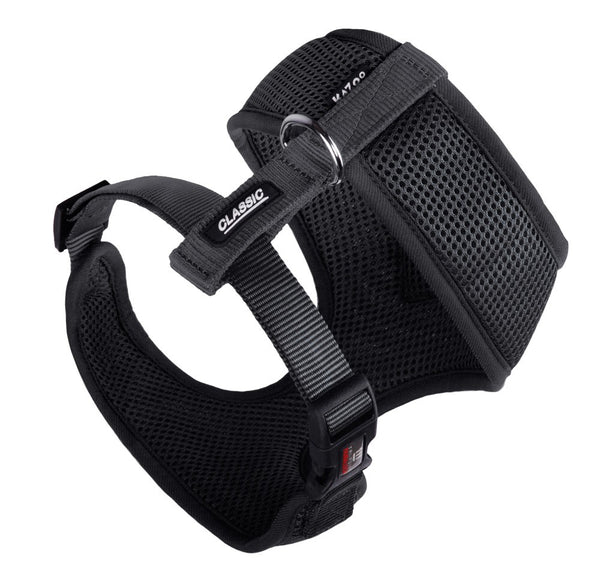 CLASSIC-SOFT WALKING HARNESS-BLACK-XXS