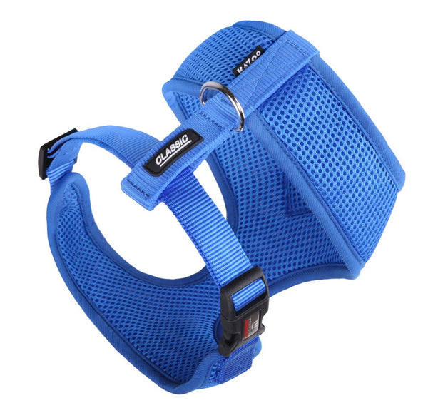 CLASSIC-SOFT WALKING HARNESS-BLUE-PUPPY