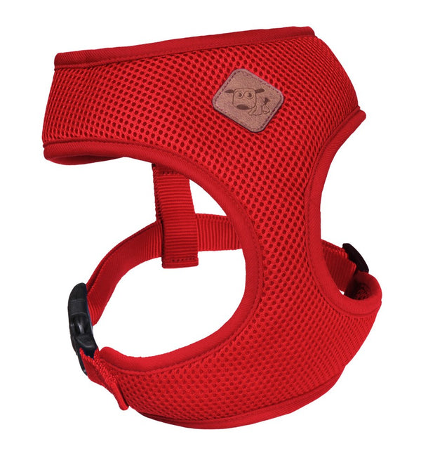 CLASSIC-SOFT WALKING HARNESS-RED-M
