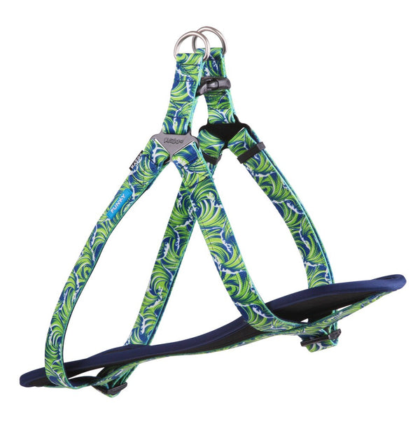 FUNKY - NYLON WALKING HARNESS-WAVES-L/XL