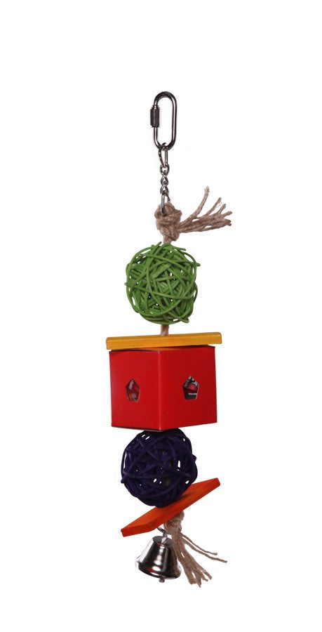 Twin Ball & Cardboard Foraging Toy - S