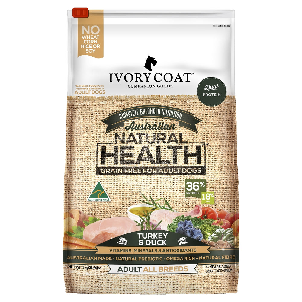 Ivory Coat Grain Free Turkey & Duck 13kg
