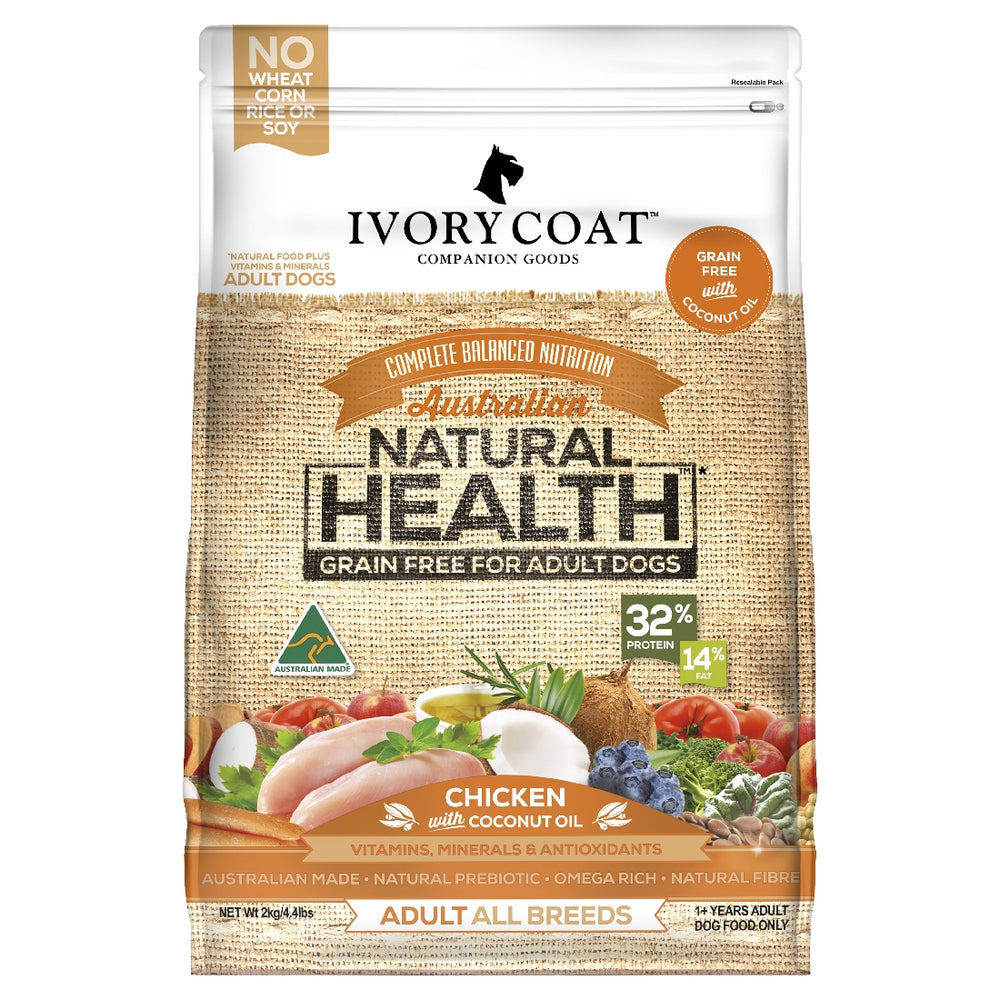 IVORY COAT 2KG ADULT CHICKEN COCONUT OIL