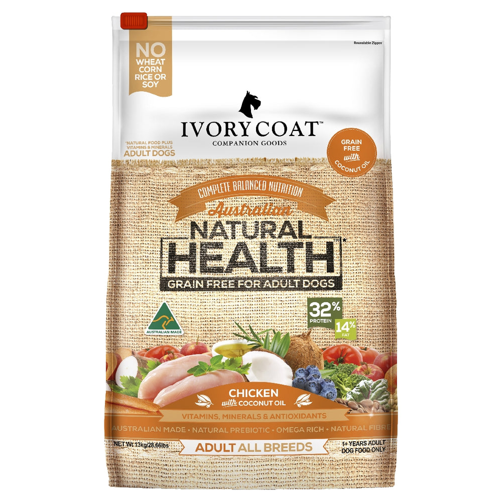 IVORY COAT GRAIN FREE CHICKEN WITH COCONUT OIL 13KG