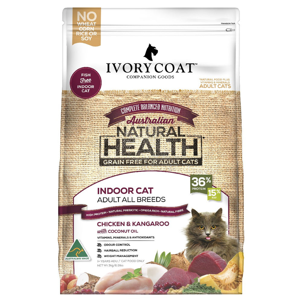 IVORY COAT CAT INDOOR CHICKEN KANGAROO 3KG