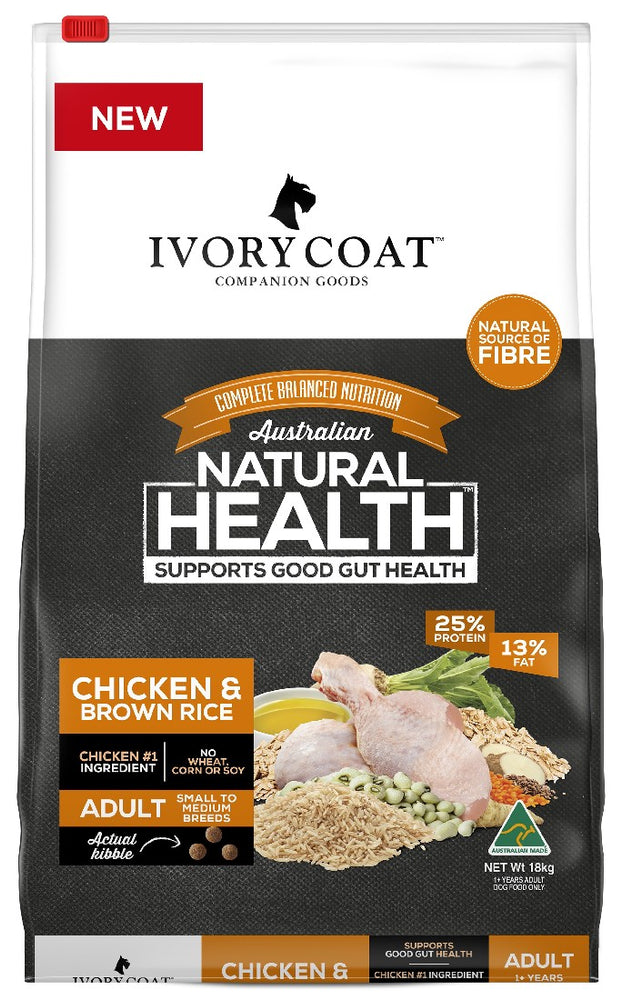 IVORY COAT CHICKEN BROWN RICE 18KG