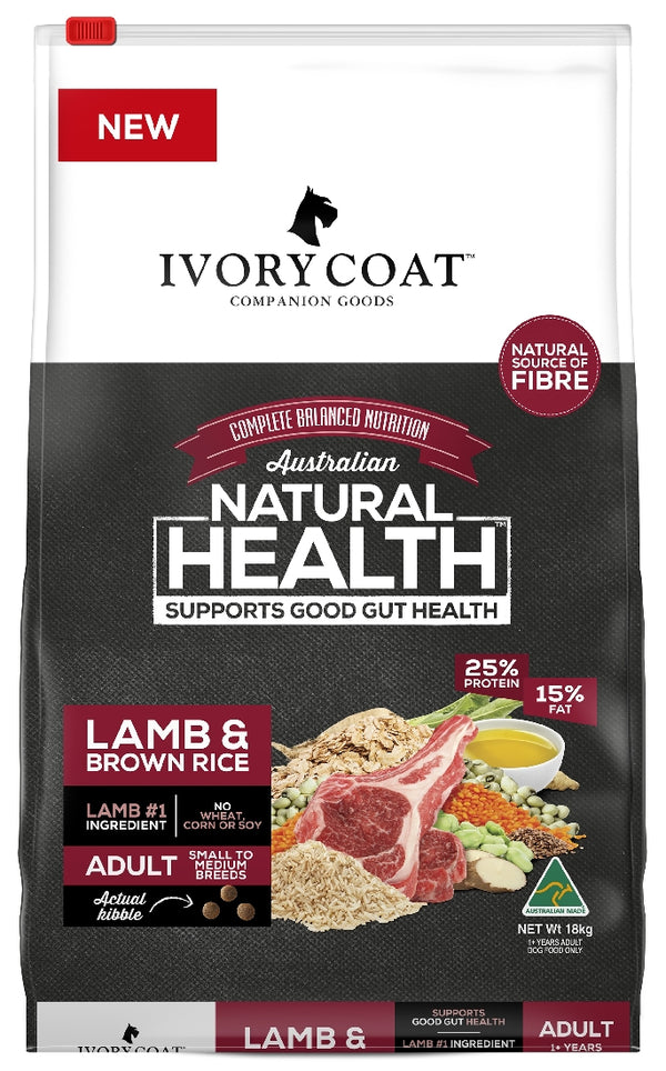 IVORY COAT LAMB BROWN RICE 18KG