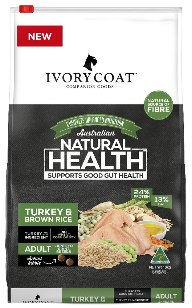 IVORY COAT LARGE TURK BROWN RICE 18KG