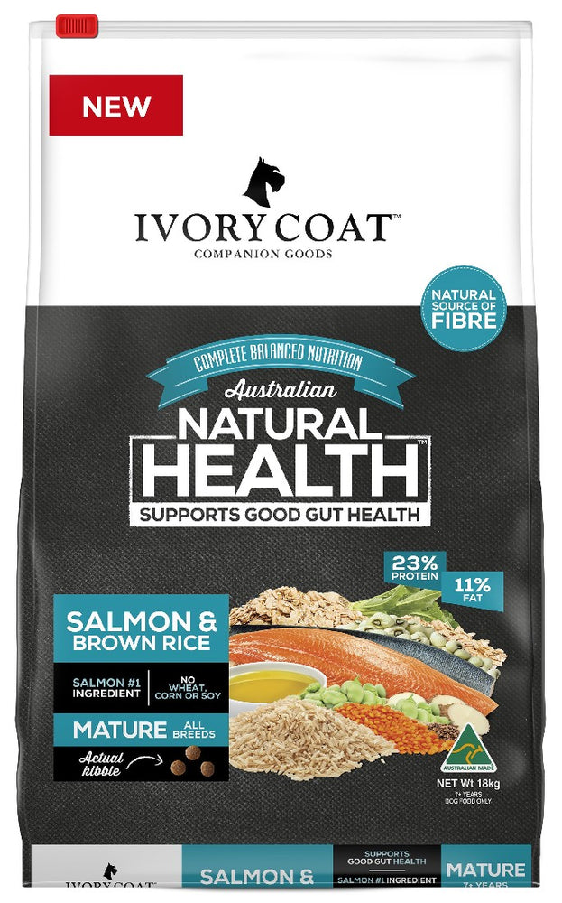 IVORY COAT MATURE SALMON BROWN RICE 18KG