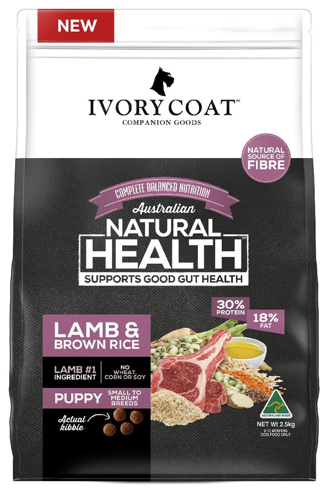 IVORY COAT PUP LAMB BROWN RICE 2.5KG