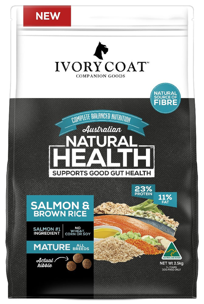 IVORY COAT MATURE SALMON & BROWN RICE 2.5KG