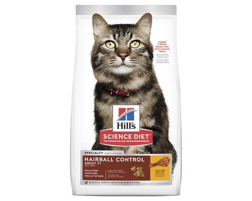 SCIENCE DIET ADULT CAT 7+ HAIRBALL CONTROL 4KG